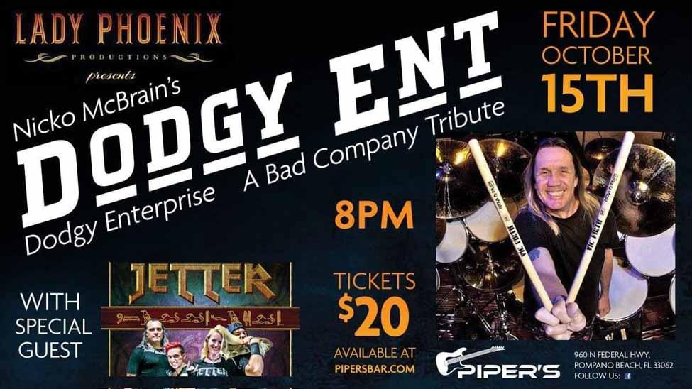 Nicko McBrain's Dodgy Ent Bad Company Tribute- Live at Piper's Pub