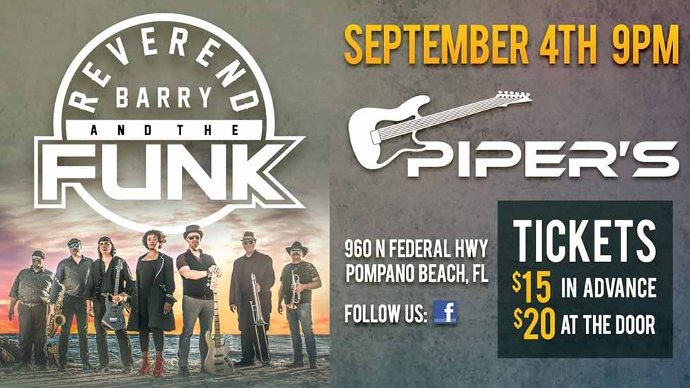 Reverend Barry & The Funk Live at Pipers Pub